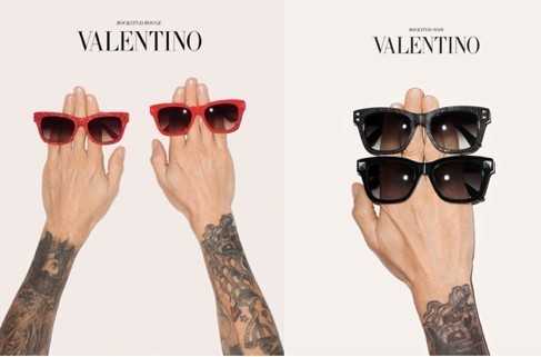 Shimmer and shine with Valentino Rockstud Rouge and Noir sunglasses