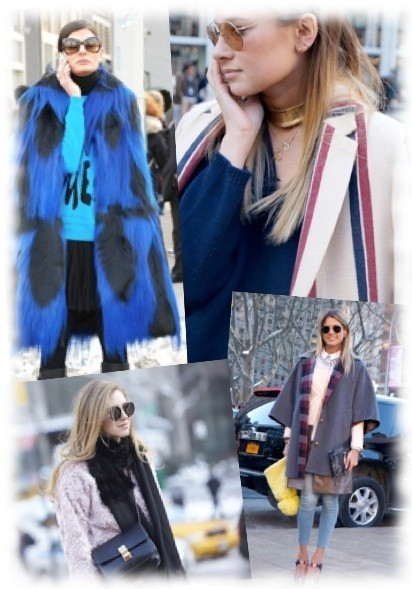 New York 2014 Fashion Week street style and upcoming trends with cross-bar sunglasses