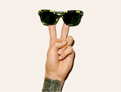 Camo-mania: camouflage is cool on catwalks and on the road with Valentino, Ray Ban and Italia Independent sunglasses