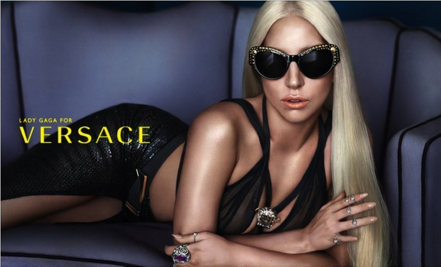 Lady Gaga for Versace #STUDSLADIES eyewear spring/summer 2014 campaign