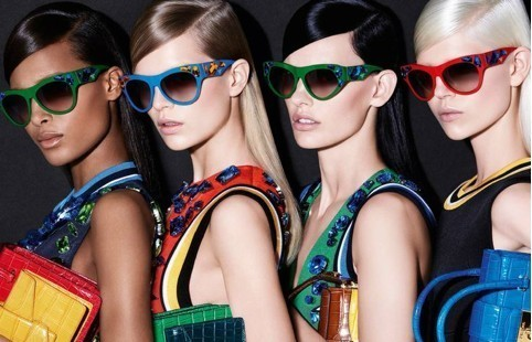 Bold frames, color block and crystals: glamour meets art with Prada Voice sunglasses collection
