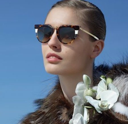 Fendi F/W 2014-2015 Eyewear Collection: retro inspiration and geometrical details