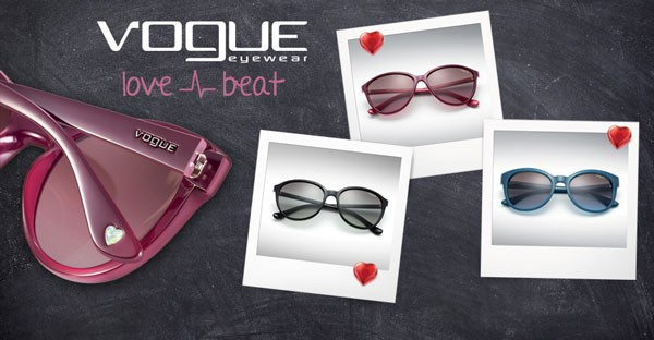 Follow your heart with Vogue Love Beat sunglasses