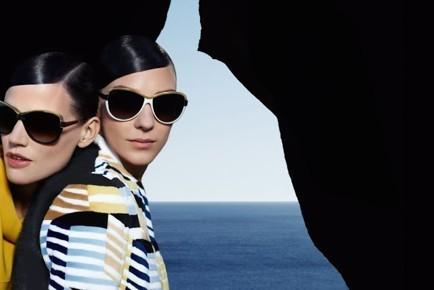 Fendi Sunglasses: geometrical frames for Summer 2013