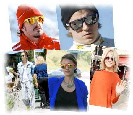 Life through a mirror: the most glamorous sunglasses have mirrored lenses.