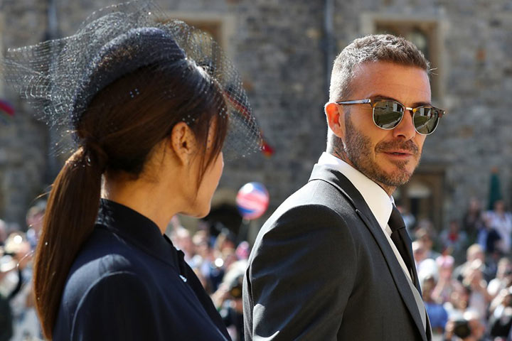 David Beckham wears Ray Bans and Stan Smith trainers to the