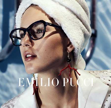 Emilio Pucci Brillen reclamecampagne