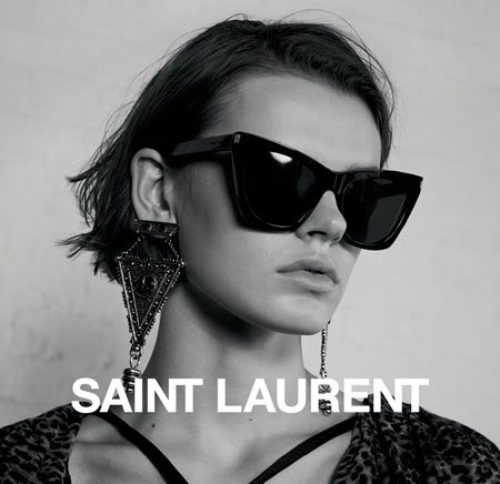 lunettes de soleil saint laurent collection saint laurent automne hiver 2017 2018. Black Bedroom Furniture Sets. Home Design Ideas