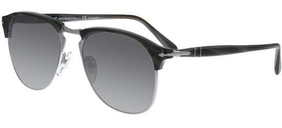 Persol CELLOR SERIES PO 8649S DARK HORN/CRYSTAL GREY SHADED POLARIZED