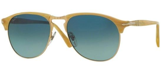 Persol CELLOR SERIES PO 8649S LIGHT HORN/CRYSTAL DARK BLUE SHADED