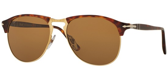 Persol CELLOR SERIES PO 8649S HAVANA/CRYSTAL BROWN POLARIZED