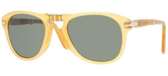 Persol PO 0714 FOLDING TRANSPARENT HONEY/CRYSTAL GREY GREEN