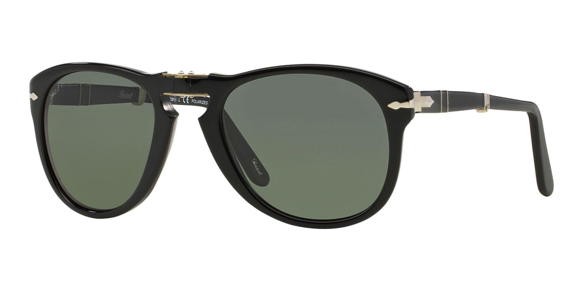 Persol PO 0714 FOLDING BLACK/CRYSTAL GREEN POLARIZED