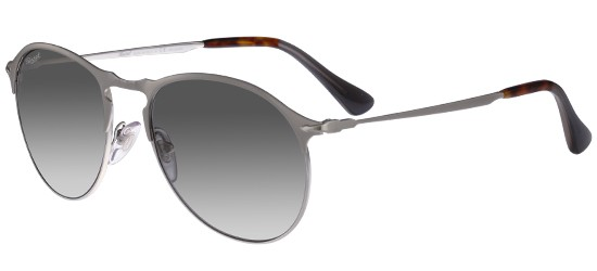 Persol PO 7649S MATTE SILVER/CRYSTAL GREY SHADED POLARIZED