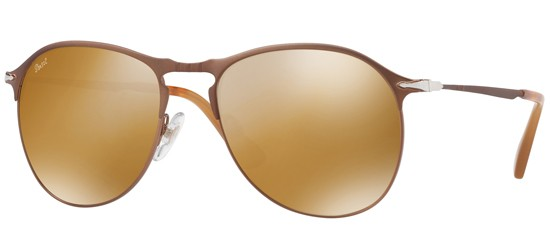 Persol PO 7649S MATTE BROWN/CRYSTAL BROWN GOLD MIRROR