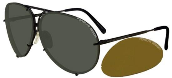Porsche Design P8478 MATTE DARK GREY/GREEN + BROWN ORANGE SEMI-MIRROR LENSES