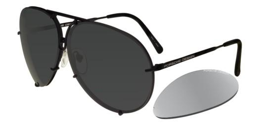 Porsche Design P8478 DARK RUTHENIUM/GREY + SILVER MIRROR LENSES
