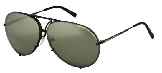 Porsche Design P8478 DARK RUTHENIUM/GREY GREEN SEMI-MIRROR + BROWN LENSES