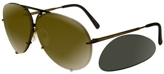Porsche Design P8478 MATTE BROWN/GOLD BRONZE + GREY LENSES