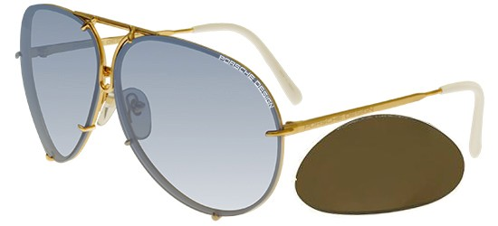 Porsche Design P8478 GOLD/LIGHT BLUE SHADED + BROWN LENSES