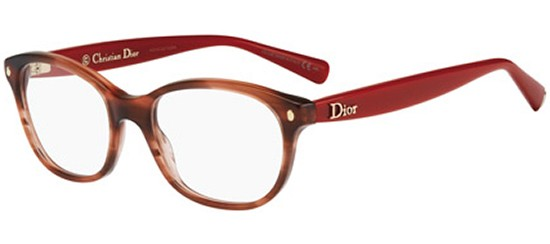 Christian Dior CD 3237 STRIPED RED BROWN RED