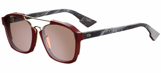 Christian Dior DIOR ABSTRACT BURGUNDY DARK GREY MARBLE/GREY RED