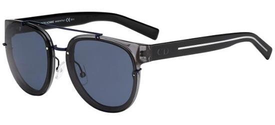 Christian Dior DIOR BLACK TIE 143S TRANSPARENT GREY BLACK CRYSTAL/BLUE