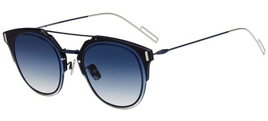 Dior DIOR COMPOSIT 1.0 BLACK BLUE/BLUE SHADED