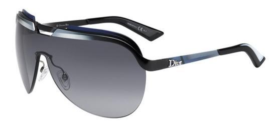 Christian Dior DIOR SOLAR BLACK SHADED WHITE BLUE GREY/GREY SHADED