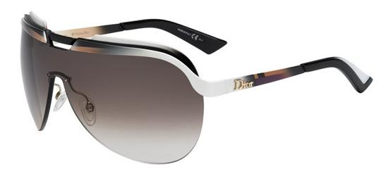 Christian Dior DIOR SOLAR BRASS SHADED WHITE BROWN BEIGE/BROWN SHADED