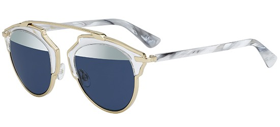 Dior DIOR SO REAL CRYSTAL GOLD WHITE MARBLE/SILVER BLUE