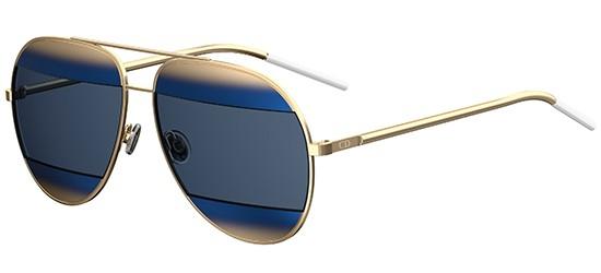 Dior DIOR SPLIT 1 GOLD/GOLD SHADED BLUE GREY