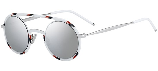 Christian Dior DIOR SYNTHESIS 01 SPOTTED WHTE RED/LIGHT GREY SILVER