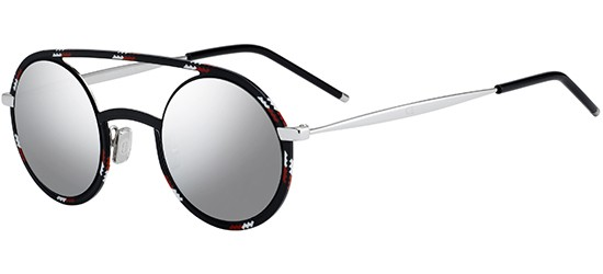 Christian Dior DIOR SYNTHESIS 01 SPOTTED BLACK RED/LIGHT GREY SILVER