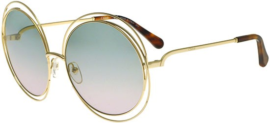 Chloé CARLINA CE114S GOLD HAVANA/GREEN SHADED PINK