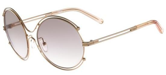 Chloé ISIDORA CE122S ROSE GOLD PEACH/LIGHT GREY SHADED