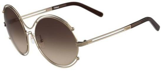Chloé ISIDORA CE122S ROSE GOLD BROWN/BROWN SHADED