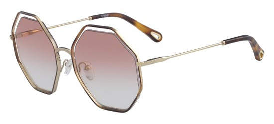 Chloé POPPY CE132S ROSE GOLD/BROWN PINK SHADED