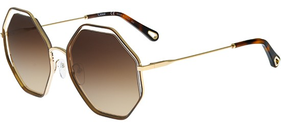 Chloé POPPY CE132S HAVANA GOLD/BROWN SHADED
