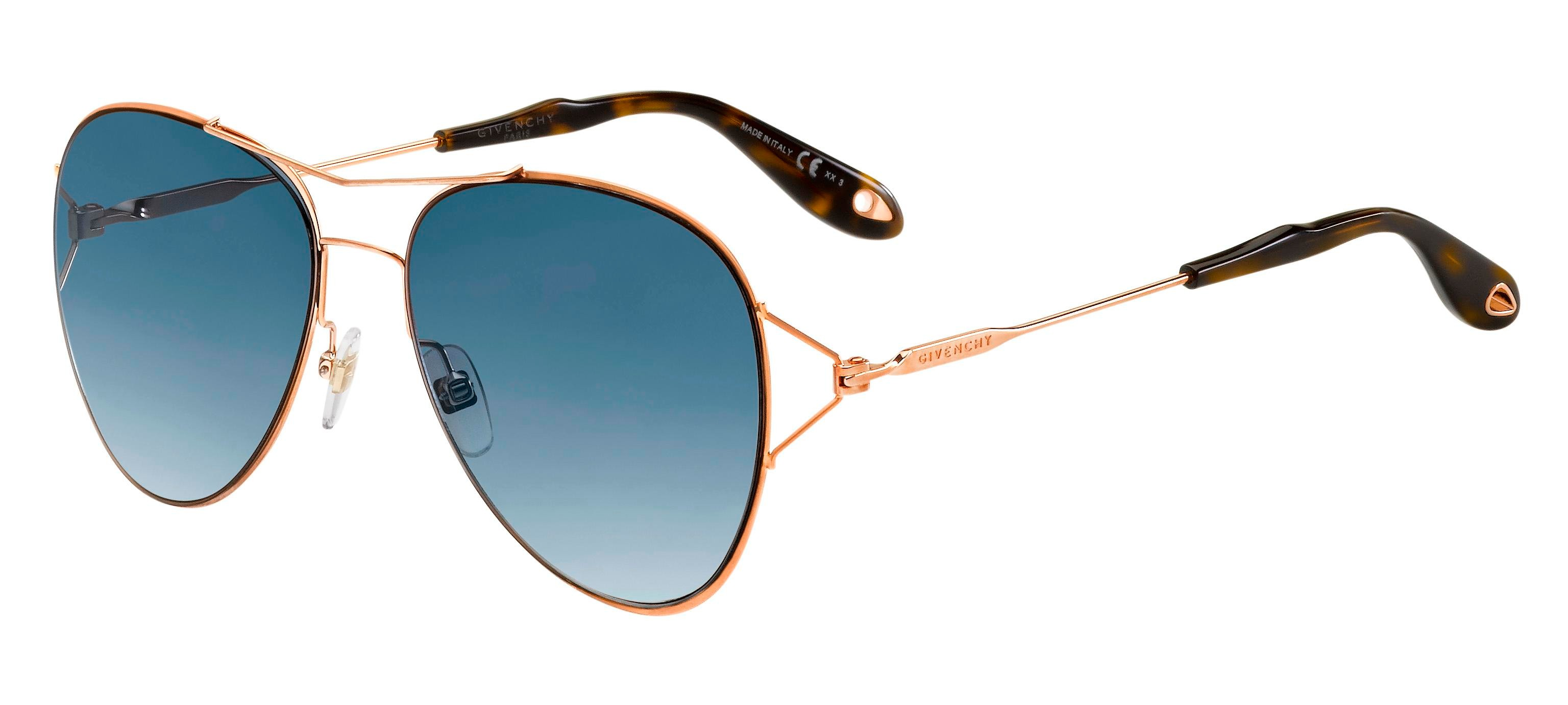 Givenchy GV 7005/S GOLD COPPER/BLUE SHADED GOLD MIRROR