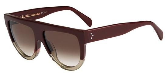 Céline CL 41026/S SHADOW BURGUNDY TRANSPARENT BEIGE/LIGHT BROWN SHADED