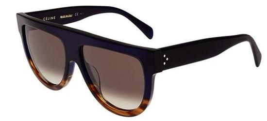 Céline CL 41026/S SHADOW DARK BLUE SHADED HAVANA/BROWN SHADED