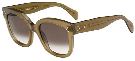 Céline CL 41805/S NEW AUDREY MILITARY GREEN/DARK BROWN SHADED