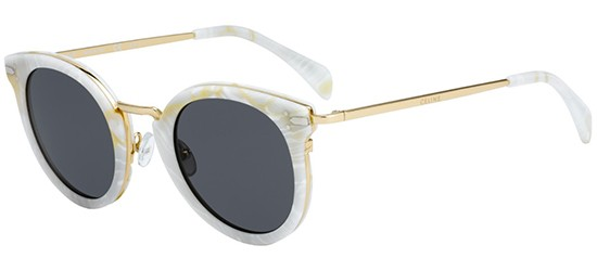 Céline LEA CL 41373/S WHITE MARBLE GOLD/GREY BLUE