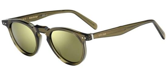 Céline THIN CHARLINE CL 41401/S TRANSPARENT OLIVE/GREY BROWN SHADED MIRROR