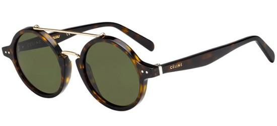 Céline THIN ELLA CL 41436/S DARK HAVANA/GREEN