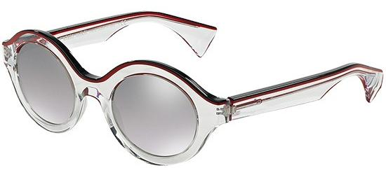 Alain Mikli SOLAIRE 0A05019 BLACK RED CRYSTAL/SILVER MIRROR SHADED