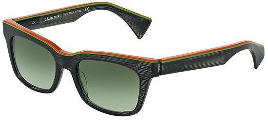 Alain Mikli SOLAIRE 0A05020 ORANGE GREEN BLACK/DARK GREEN SHADED