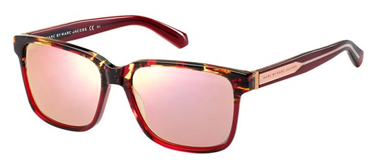 Marc by Marc Jacobs MMJ 410/S HAVANA RED/ROSE GOLD MIRROR