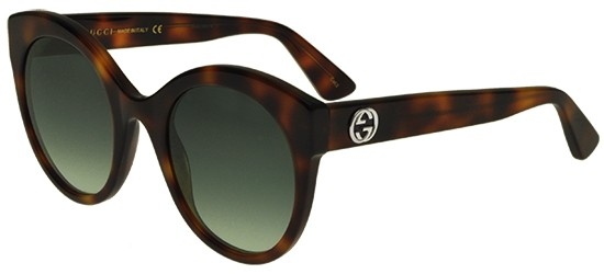 Gucci GG0028S HAVANA/GREEN SHADED